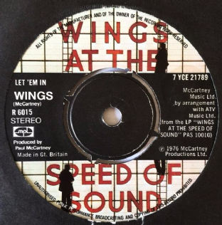 "Wings - Let 'Em In (7"") (VG/G)"